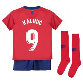 Atlético de Madrid Home Stadium Kit 2018-19 - Little Kids with Kalinic 9 printing