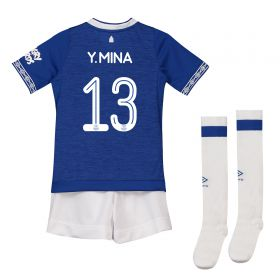 Everton Home Cup Infant Kit 2018-19 with Y.Mina 13 printing