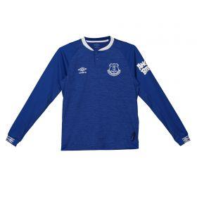 Everton Home Shirt 2018-19 - Kids - Long Sleeve with Y.Mina 13 printing