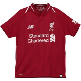 Liverpool Home Shirt 2018-19 - Kids with Shaqiri 23 printing