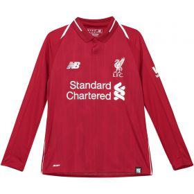 Liverpool Home Shirt 2018-19 - Long Sleeve - Kids with Shaqiri 23 printing