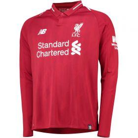 Liverpool Home Shirt 2018-19 - Long Sleeve with Shaqiri 23 printing