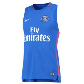 Paris Saint-Germain Squad Sleeveless Training Top - Blue