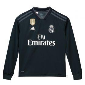 199b0956d Real Madrid Away Shirt 2018-19 - Long Sleeve - Kids with Achraf 19 printing