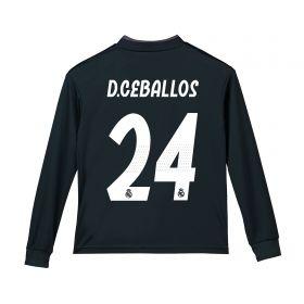 Real Madrid Away Shirt 2018-19 - Long Sleeve - Kids with D. Ceballos 24 printing