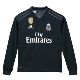 Real Madrid Away Shirt 2018-19 - Long Sleeve - Kids with Modric 10 printing