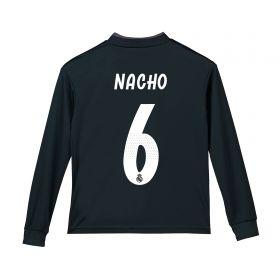 Real Madrid Away Shirt 2018-19 - Long Sleeve - Kids with Nacho 6 printing