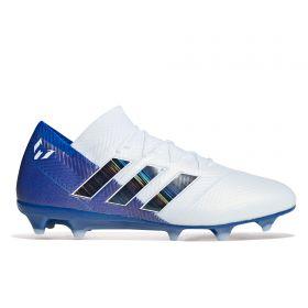 adidas Nemeziz Messi 18.1 Firm Ground Football Boots - White