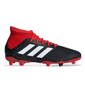 adidas Predator 18.1 Firm Ground Football Boots - Black - Kids