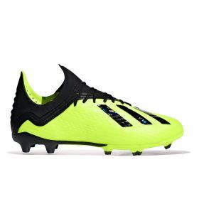 adidas X 18.1 Firm Ground Football Boots - Yellow - Kids