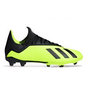 adidas X 18.3 Firm Ground Football Boots - Yellow - Kids