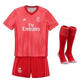 Real Madrid Third Kids Kit 2018-19 with M. Llorente 18 printing