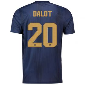 Manchester United Cup Third Shirt 2018-19 with Dalot TBC printing