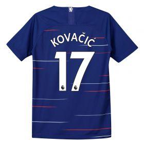 Chelsea Home Stadium Shirt 2018-19 - Kids with Kovacic 17 printing