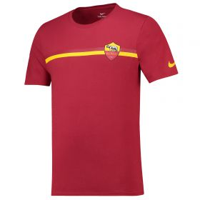 AS Roma Crest T-Shirt - Red