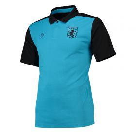 Aston Villa Poly Cotton Team Polo - Blue