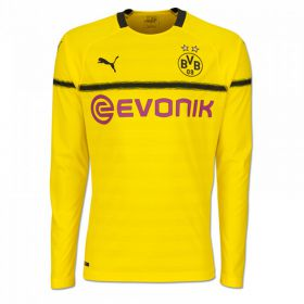 BVB Cup Home Shirt 2018-19 - Kids - Long Sleeve with Paco Alcacer 9 printing