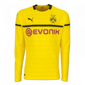 BVB Cup Home Shirt 2018-19 - Long Sleeve with Paco Alcacer 9 printing