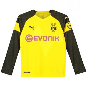 BVB Home Shirt 2018-19 - Kids - Long Sleeve with Paco Alcacer 9 printing