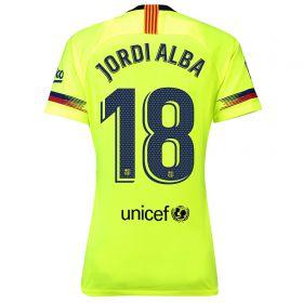 Barcelona Away Stadium Shirt 2018-19 - Womens with Jordi Alba 18 printing