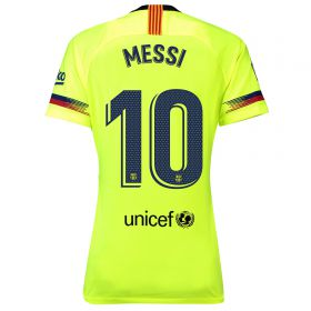 Barcelona Away Stadium Shirt 2018-19 - Womens with Messi 10 printing
