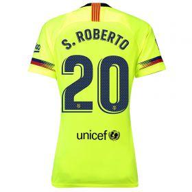 Barcelona Away Stadium Shirt 2018-19 - Womens with S.Roberto 20 printing