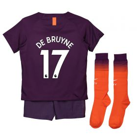 Manchester City Third Stadium Kit 2018-19 - Little Kids with De Bruyne 17 printing