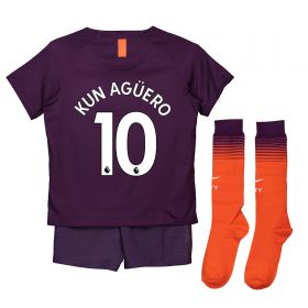 Manchester City Third Stadium Kit 2018-19 - Little Kids with Kun Agüero 10 printing