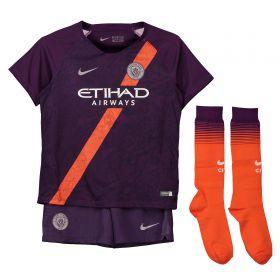 Manchester City Third Stadium Kit 2018-19 - Little Kids with Laporte 14 printing