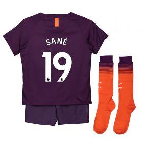 Manchester City Third Stadium Kit 2018-19 - Little Kids with Sané 19 printing