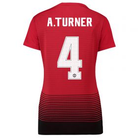 Manchester United Home Cup Shirt 2018-19 - Womens with A.Turner 4 printing