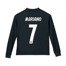 Real Madrid Away Shirt 2018-19 - Long Sleeve - Kids with Mariano 7 printing
