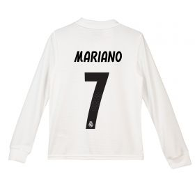 Real Madrid Home Shirt 2018-19 - Long Sleeve - Kids with Mariano 7 printing