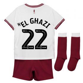 Aston Villa Away Infant Kit 2018-19 with El Ghazi 22 printing