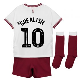 Aston Villa Away Infant Kit 2018-19 with Grealish 10 printing