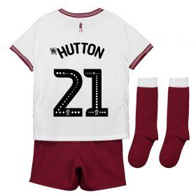 Aston Villa Away Infant Kit 2018-19 with Hutton 21 printing