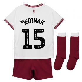 Aston Villa Away Infant Kit 2018-19 with Jedinak 15 printing