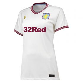 Aston Villa Away Shirt 2018-19 - Womens with Abraham 18 printing