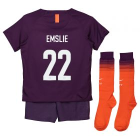 Manchester City Third Cup Stadium Kit 2018-19 - Little Kids with Emslie 22 printing