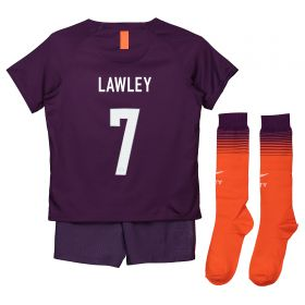 Manchester City Third Cup Stadium Kit 2018-19 - Little Kids with Lawley 7 printing