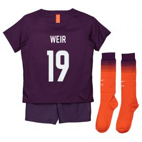 Manchester City Third Cup Stadium Kit 2018-19 - Little Kids with Weir 19 printing