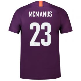 Manchester City Third Cup Stadium Shirt 2018-19 - Kids with McManus 23 printing