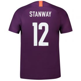 Manchester City Third Cup Stadium Shirt 2018-19 - Kids with Stanway 12 printing