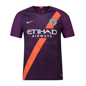 Manchester City Third Stadium Shirt 2018-19 - Kids with Silva 21 printing