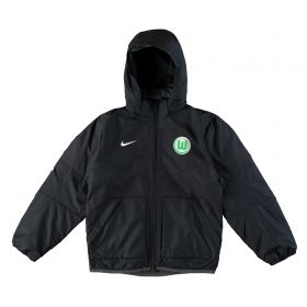 VfL Wolfsburg Training Fall Jacket - Black - Kids