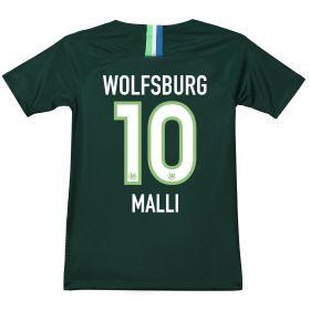 VfL Wolfsburg Home Stadium Shirt 2018-19 - Kids with Malli 10 printing