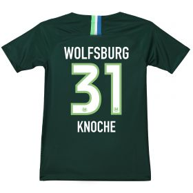VfL Wolfsburg Home Stadium Shirt 2018-19 - Kids with Knoche 31 printing