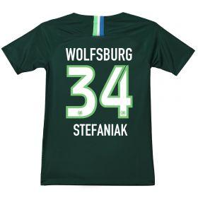 VfL Wolfsburg Home Stadium Shirt 2018-19 - Kids with Stefaniak 34 printing