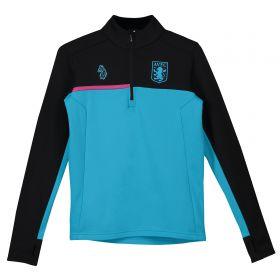 Aston Villa 1/4 Zip Training Top - Blue - Kids