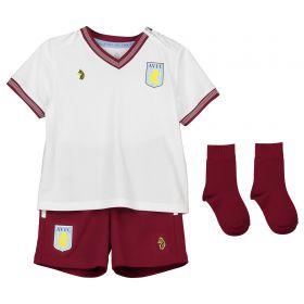 Aston Villa Away Baby Kit 2018-19 with Abraham 18 printing
